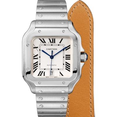 Santos de Cartier watch - Large model, automatic, steel