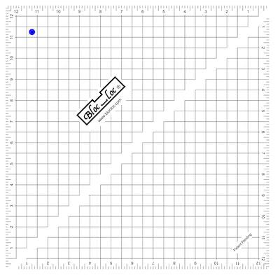 """Bloc Loc Half Square Triange Square Up Ruler 12.5"""""""