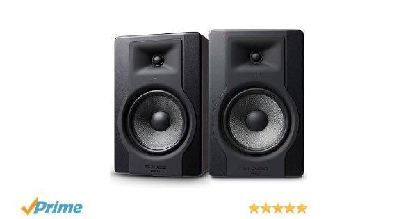 "M-Audio BX8 D3 Pair, Professional 2-Way, 150W, 8"" Active Studio Monitor Speakers"