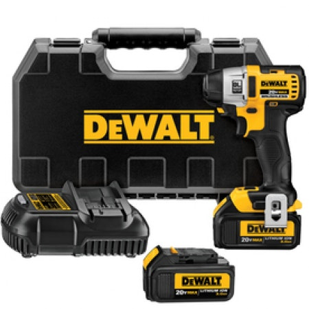 DEWALT 20-Volt 1/4-in Drive Cordless Impact Driver (3.0AH)