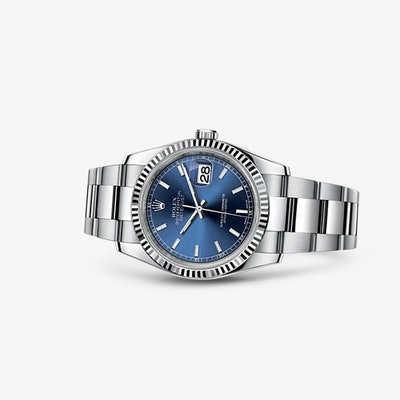 Rolex Datejust 36 Watch: White Rolesor - combination of 904L steel and 18 ct whi