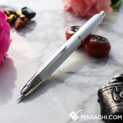 PILOT Vanishing Point Capless Decimo Fountain Pen - Pearl White | PenSachi - Jap