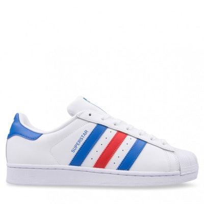 Adidas SUPERSTAR White/Blue/Red