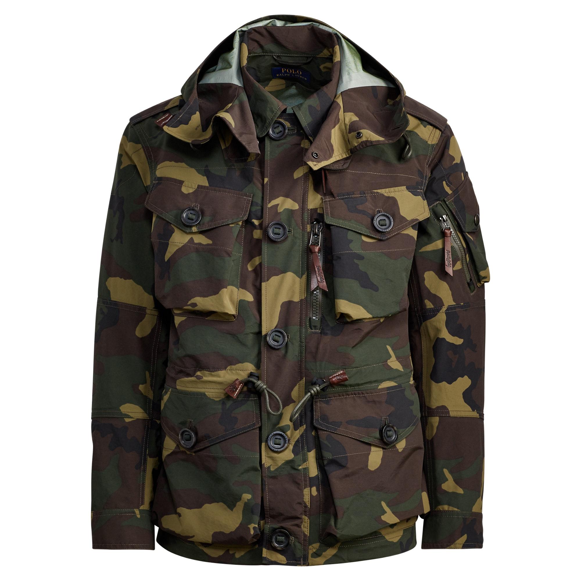 Camo Hooded Utility Jacket