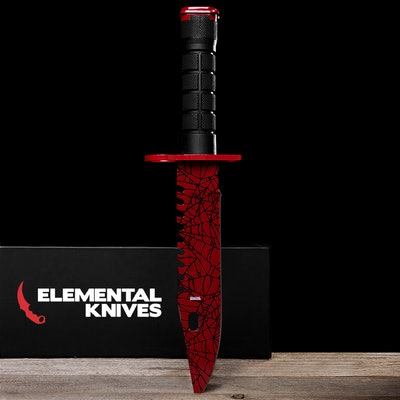 Real Crimson Web M9 Bayonet - Elemental Knives