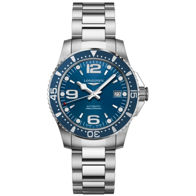 HYDROCONQUEST 44MM BLUE DIAL AUTOMATIC DIVING WATCH L38414966