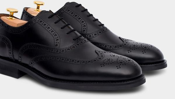 Velasca Cavalier Black Leather Oxford Shoes