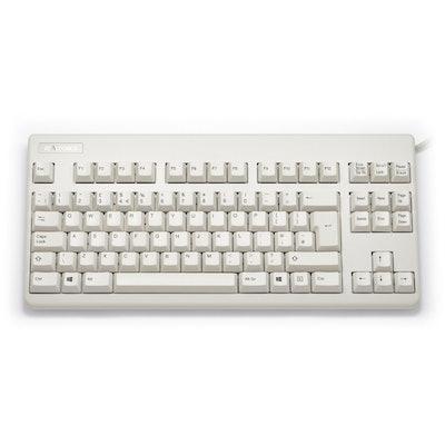 UK Topre Realforce 88U 45g Black on Beige Tenkeyless Keyboard