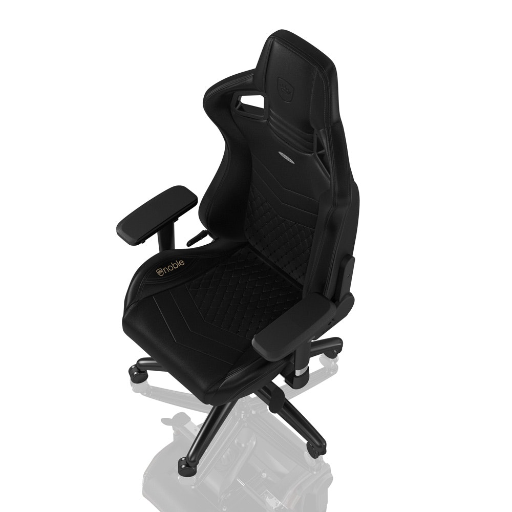 EPIC - Real Leather - Black - noblechairs