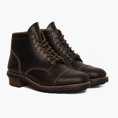 Men's Waxed Cacao Vanguard Lace-Up Boot - Thursday Boot Company