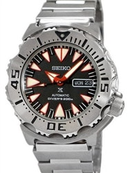 Seiko 2nd Generation Black-Red Monster with new 24-Jewel Automatic Movement #SRP
