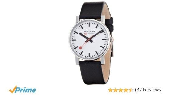 Amazon.com: Mondaine Men's A658.30300.11SBB Quartz Evo Leather Band Watch: Monda