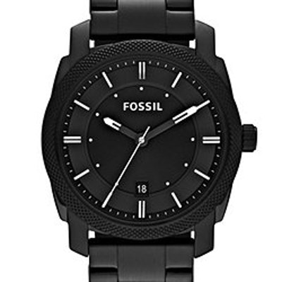 Machine Black Stainless Steel Watch - Fossil