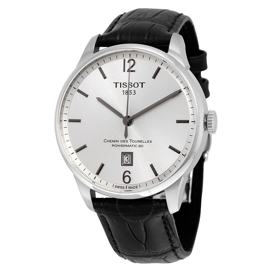 Tissot T-Classic Chemin Des Tourelles Silver Dial Automatic Men's Watch T0994071