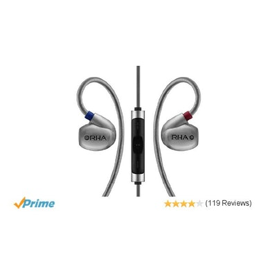 Amazon.com: RHA T10i High Fidelity, Noise Isolating In-Ear Headphone with Remote