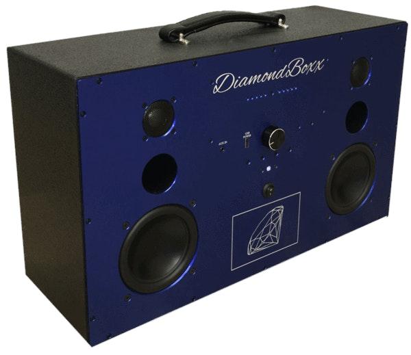 DiamondBoxx - Portable Bluetooth Boombox Speaker - Model L