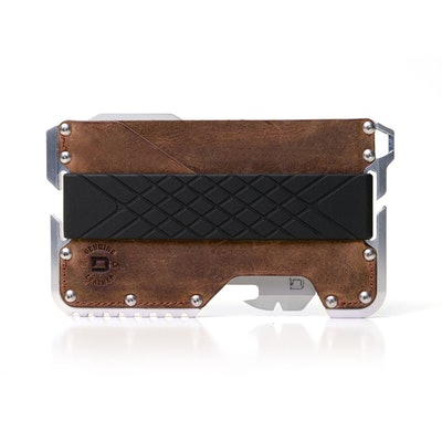 T01 Tactical Wallet - Raw Hide Genuine Leather - Raw Aluminum — Dango products