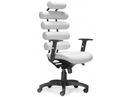 Zuo Unico Office Chair   White   Vintage King Audio