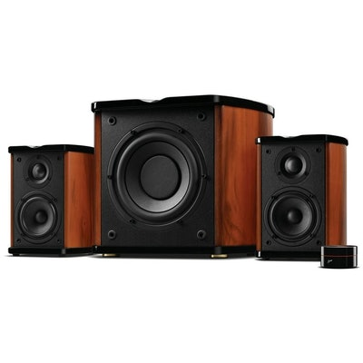 Swans HiVi M50W 2.1 Speaker System - 80 W RMS - Glossy Piano Lacque