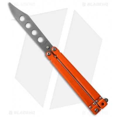 """Bear OPS Bear-Song II Butterfly Knife Orange G-10 (4.38"""" Trainer) B-201-B4-P - B"""