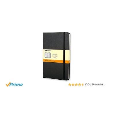 Moleskine Classic Notebook, Large, Ruled, Black, Hard Cover (5 x 8.25) (Classic