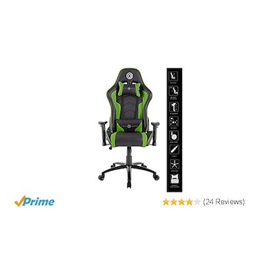 Circle Gaming CH70 Green Black All Moulded Foam with 2D ARM Rest Having PU + PVC
