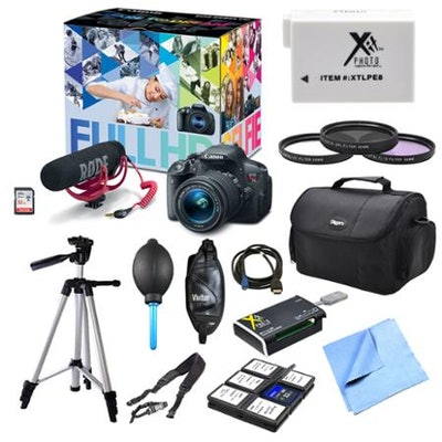 Canon EOS Rebel T5i and Lens Video Creator, Filters, and Battery Bundle - Walmar