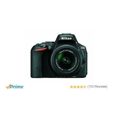 Amazon.com : Nikon D5500 DX-format Digital SLR w/ 18-55mm VR II Kit (Black) : Ca