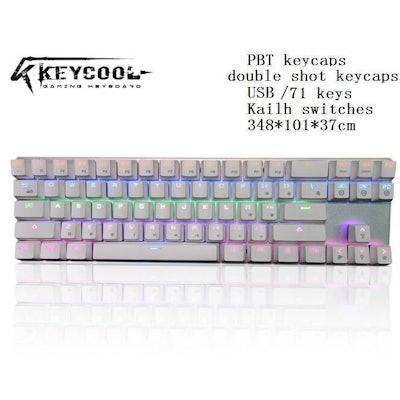 Keycool Smart 71 Keys Backlit USB Mechanical Gaming Keyboard with PBT Keycaps  