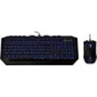 CM Storm Devastator - LED Gaming Keyboard and Mouse Combo Bundle (Blue Edition)