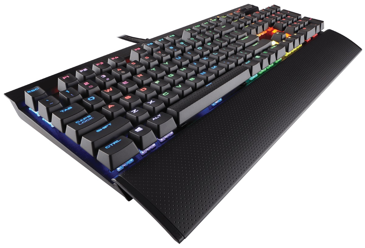 K70 LUX RGB Mechanical Gaming Keyboard — Cherry MX RGB Red