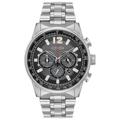 Nighthawk - Men's Eco-Drive Chronograph Large Face Watch   CitizenSlice 1Arrow p
