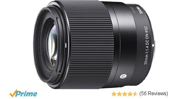 Amazon.com : Sigma 30mm F1.4 Contemporary DC DN Lens for Sony E : Camera & Photo