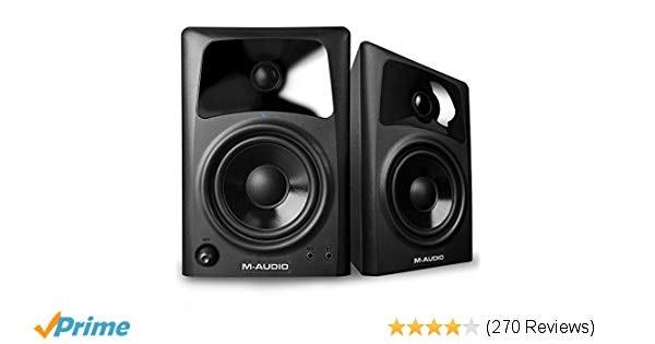 Amazon.com: M-Audio AV42   20-Watt Compact Studio Monitor Speakers with 4-inch W