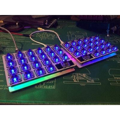 Levinson Keyboard - 40% Split Ortholinear (Let's Split w/LED backlight