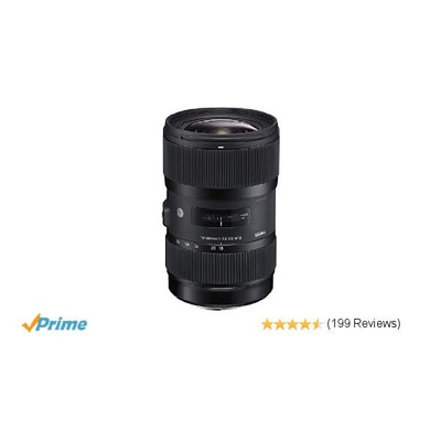 Amazon.com : Sigma 210101 18-35mm F1.8 DC HSM Lens for Canon APS-C DSLRs (Black)