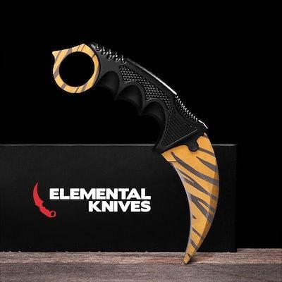 Real Tiger Tooth Karambit - Elemental Knives