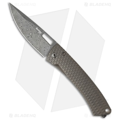 LionSteel Limited Edition TiSpine Aculus Knife Ti (Raindrop Damascus) TS1-DAC -