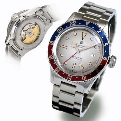 STEINHART Ocean 1 vintage Dual Time Premium | Taucheruhr bis 30 ATM  - Steinhart