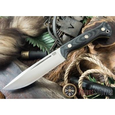 Bark River Knives: Cub - CPM 3V - Black Denim Micarta - Yellow