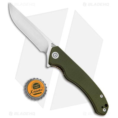 CIVIVI Courser | Flipper Liner Lock Knife | OD Green G-10
