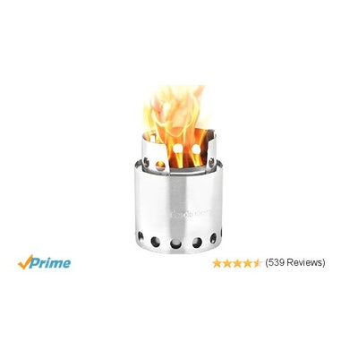 Amazon.com : Solo Stove Lite - Compact Wood Burning Backpacking Stove : Sports &