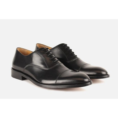 Gordon Rush - Men's Shoes - Nathan Cap Toe Oxford in Black by Gordon Rush