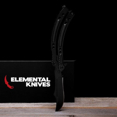 Real Night Butterfly - Elemental Knives  (Gloss or Matte & Sharp or Blunt/Dull)