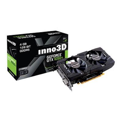 Inno3D NVIDIA GeForce GTX 1050 Ti 4GB Twin X2 Graphics Card LN76140 - N105T-1DDV