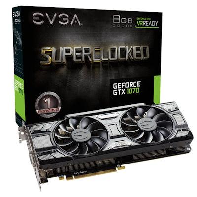 EVGA GeForce GTX 1070 SC GAMING, 08G-P4-5173-KR, 8GB GDDR5,