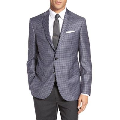 375263eae06d Ted Baker London Jay Trim Fit Check Wool Sport Coat