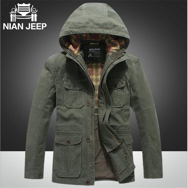 Aliexpress.com : Buy Nian AFS Jeep Black/Army Green/Khaki Men's 100% Cotton Slim