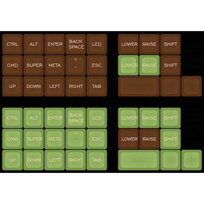 Planck kit Mocha and Matcha kits