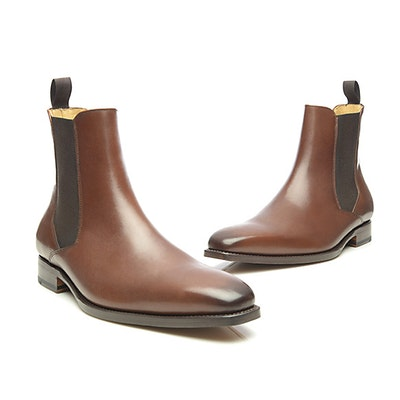 06fd0c3f432c76 SHOEPASSION.com – Goodyear-welted Chelsea boot in dark brown